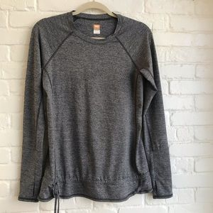 Lucy Tech Long Sleeve Gray Athletic shirt Small